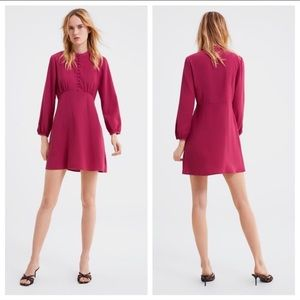 NWT Zara Rose Color A-line Silhouette Dress SizeXS